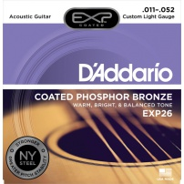 CUERDA ACÚSTICA D'ADDARIO EXP-26 11-52 PHOSPHOR BRONZE CUSTOM LIGHT JUEGO