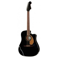 GUITARRA ACÚSTICA FENDER 4/4 RECORTADA REDONDO PLAYER JETTY BLACK CON PREVIO 0970713506