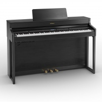 PIANO ROLAND CONTRAPESADO HP702CH CON MUEBLE TRIPLE PEDALERA CHARCOAL BLACK BLUETOOTH