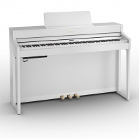 PIANO ROLAND CONTRAPESADO HP702WH CON MUEBLE TRIPLE PEDALERA BLANCO BLUETOOTH