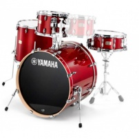 "BATERÍA YAMAHA SET STAGE CUSTOM BIRCH SBP0F5 4 CASCOS CAJA 14""-12""-14""-20""- CRANBERRY RED"