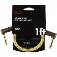 CABLE JACK M ACODADO - JACK M ACODADO 0,3 METROS FENDER DELUXE CUSTOM SHOP TWEED AMARILLO 0990820097