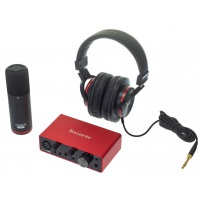 INTERFACE FOCUSRITE SCARLETT SOLO STUDIO 3RD GEN PACK MICRO+CABLE+AURICULARES+SOFTWARE